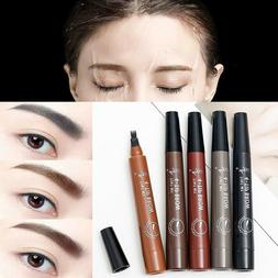 1Ps Eyebrow Pen Microblading Waterproof Fork Tip Liquid Long