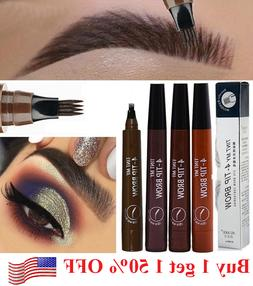 1Ps Microblading Eyebrow Pen Waterproof Fork Tip Tattoo Long