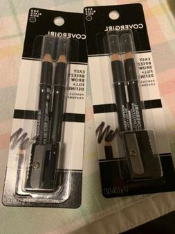 2 Covergirl Easy Eyebrow Pencil Fill + Define 2 Pack  #500 B