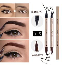 2 In 1 Waterproof <font><b>Eyebrow</b></font>&Eyeliner <font