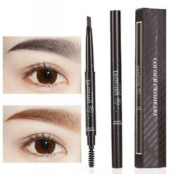 2 Pack Eyebrow Pencil Retractable Slant Tip with Brush Doubl