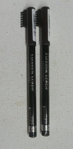 2 pencil lot RIMMEL PROFESSIONAL EYEBROW PENCIL 001 DARK BRO