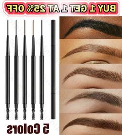 2in1 Waterproof Microblading Eye Brow Eyebrow Pen Pencil Sli