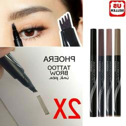 2Pcs Patented Microblading Tattoo Eyebrow Ink Pen Eye Brow M