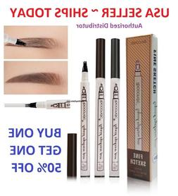 3 Tip Waterproof Eyebrow Microblading Ink Pen Pencil Tattoo