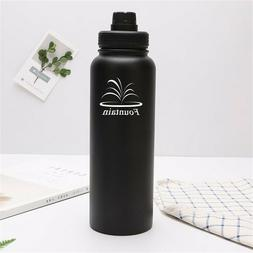 32 oz Double Wall Thermal Flask Water Bottle Vacuum Insulate