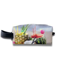 3D Pineapple Sunshine Juice Multi-Function Key Purse Coin Ca