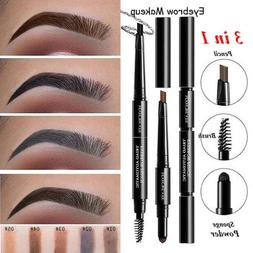 3in1 Waterproof Eyebrow Pen Pencil Eyebrow Powder With Brush