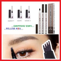 4 Head Tip Microblading Tattoo Eyebrow Pen Ink Eye Brow 3D M
