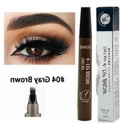 4-Tip Fork Microblading Eyebrow Pencil Tattoo Pen Waterproof