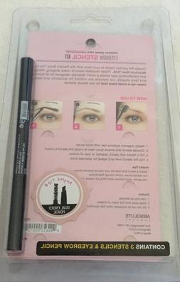 Absolute NY Trio Eyebrow Shaping Stencil Kit With Black Eyeb
