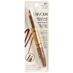 Revlon Brow Fantasy Pencil and Gel, 108 Light Brown, 0.051 o