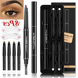 Brow Tattoo Pen Eyebrow Pencil With 5 Colors Refill Lead Aut