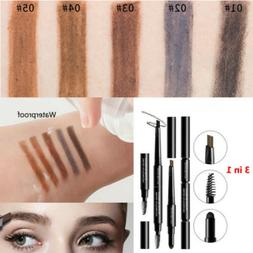 Creative 3in1 Waterproof Eyebrow Pen Pencil Eyebrow Powder W