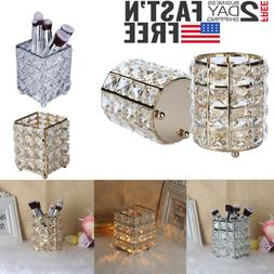 Crystal Makeup Brush Holder Eyebrow Pencil Cup Collection Co