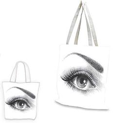 eye shopping bag pencil drawing