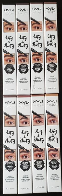 NYX Fill&Fluff Eyebrow Pomade Pencil ~ Choose Your Shade ~