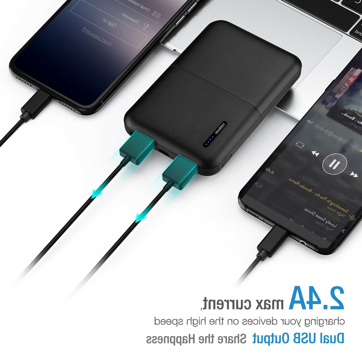 10000mAh USB Bank Portable Battery for Cell US