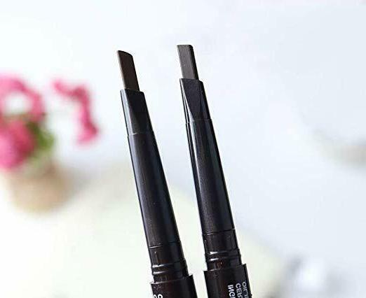 2 Pencil Retractable Slant with Brush Double-end