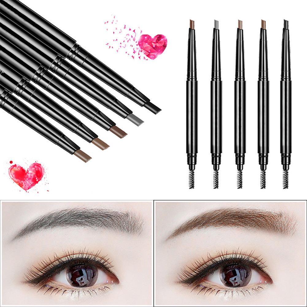 2 pack eyebrow pencil retractable slant tip