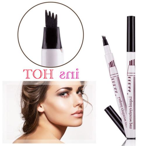 2x New Microblading Tattoo Eyebrow Pencil Waterproof Fork ti