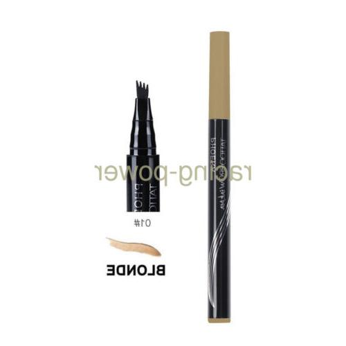 2X Patented Microblading Tattoo Eyebrow Pen Eye Colors