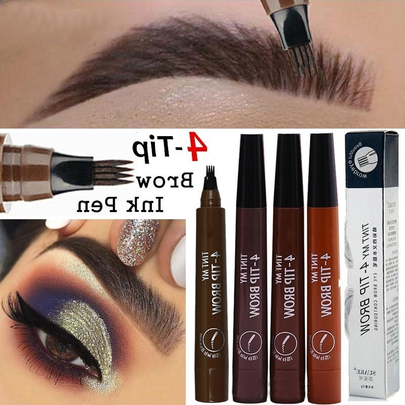 4 Head Fork Tip Eyebrow Tattoo Pen Liquid Brow Enhancer Dye