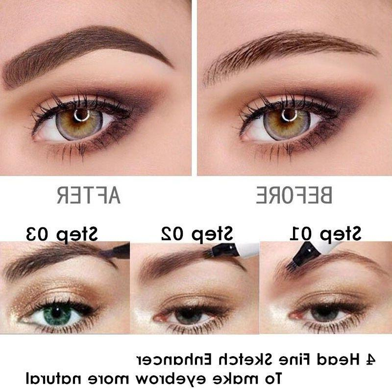4 Head Microblading Eyebrow Waterproof tip Ink Sketch