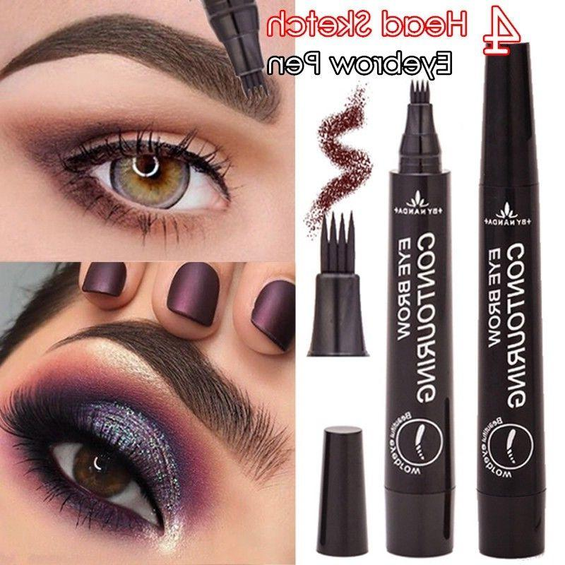 4 head microblading tattoo eyebrow pencil waterproof