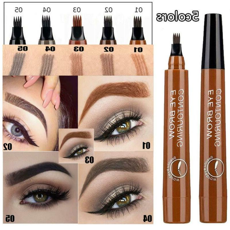 microblading tattoo eyebrow pencil waterproof fork tip