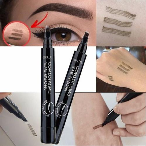 4-Tip Fork Eyebrow Pencil Long-Last Makeup