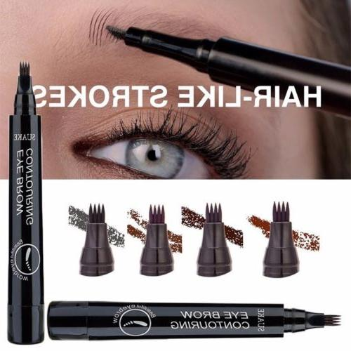 4 tip fork microblading eyebrow pencil tattoo