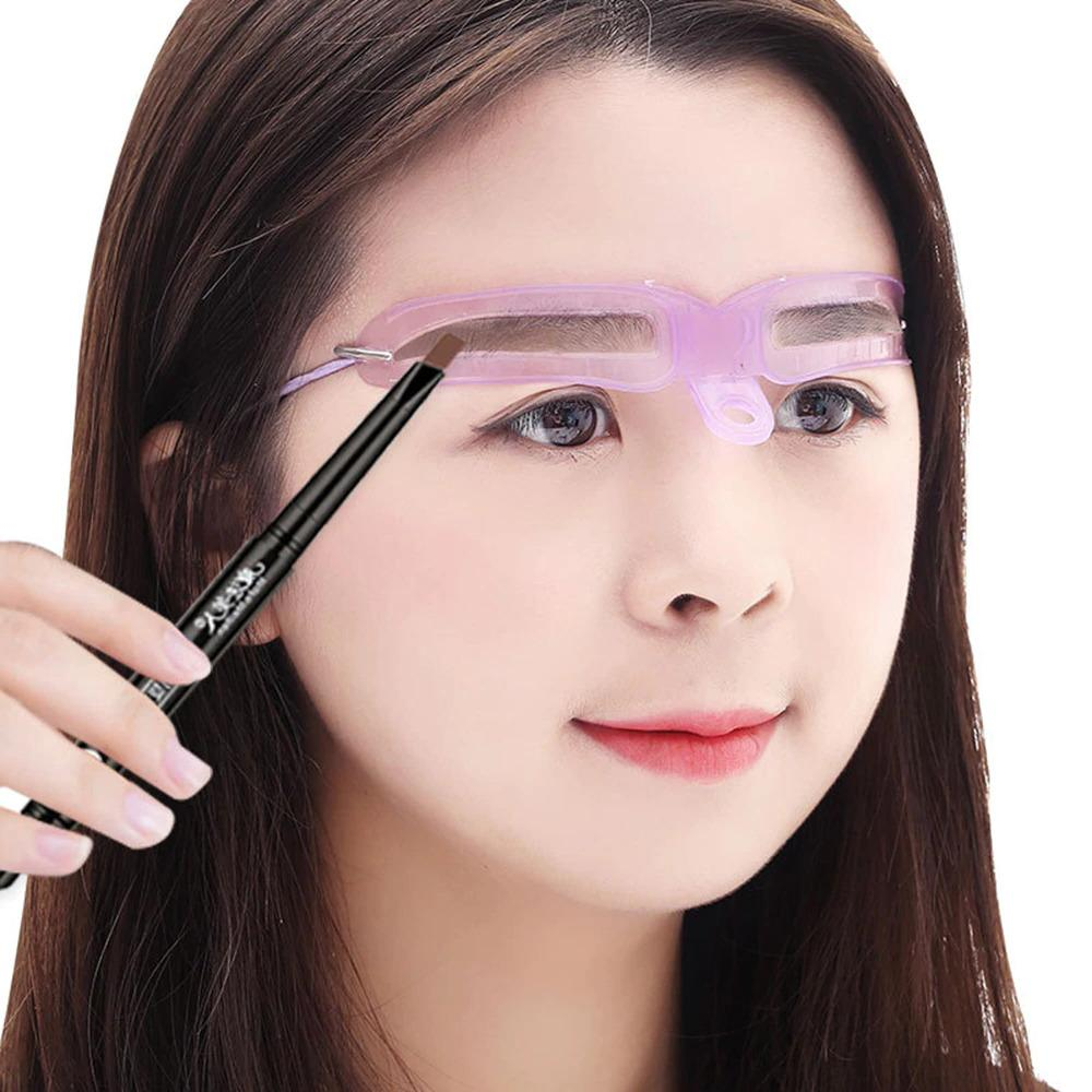8 Women's Eyebrow Stencil Grooming Stencil Shaping Card