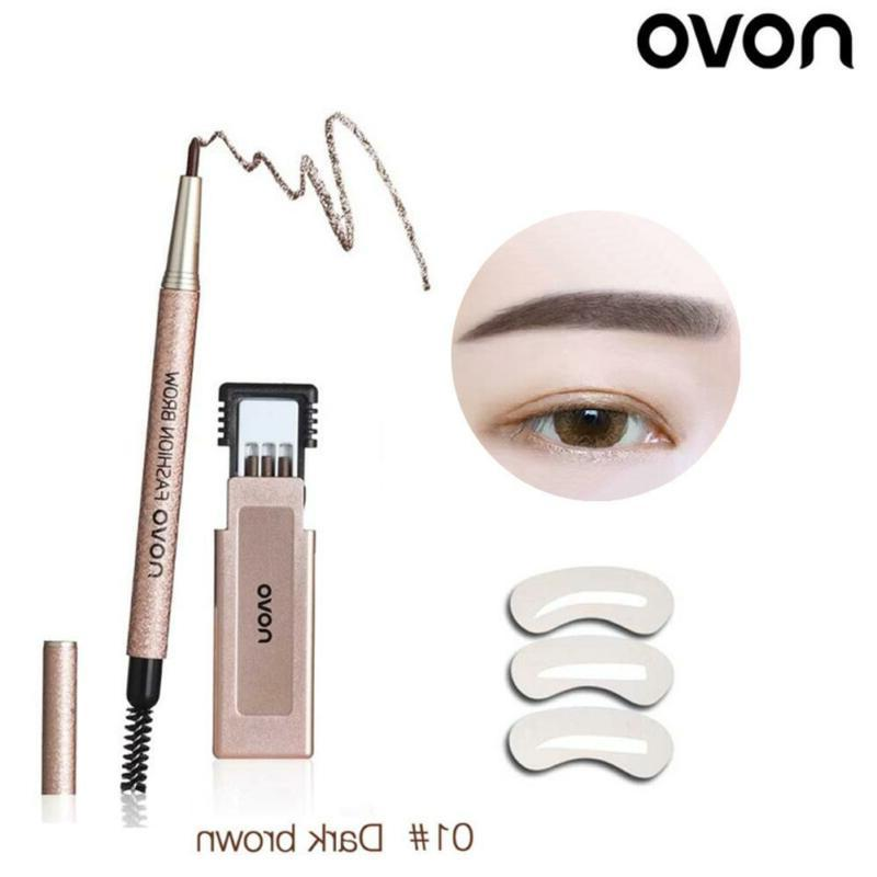 Novo Automatic Rotation Eyebrow Pencil With 3 Replacement Re