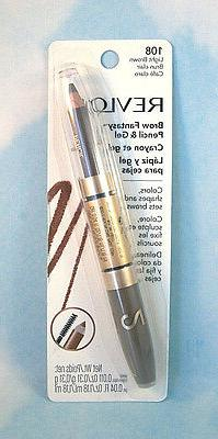 Revlon Brow Fantasy Eye Brow Pencil & Gel - Light Brown 108