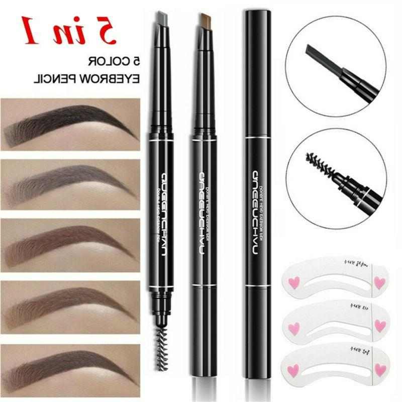 Eyebrow Pencil With 5 Colors Refill Lead Brow