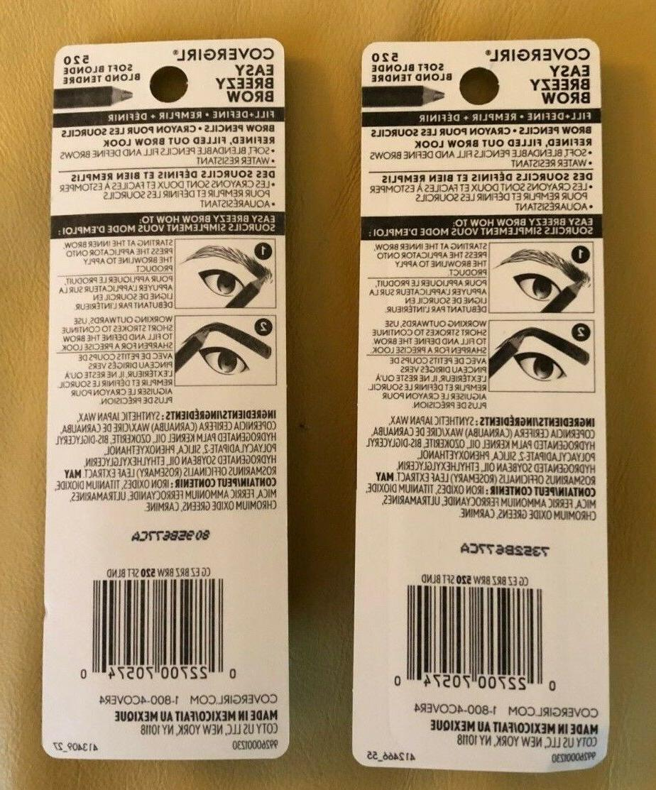 CoverGirl Cover Girl Breezy Brow Soft # 520 Lot