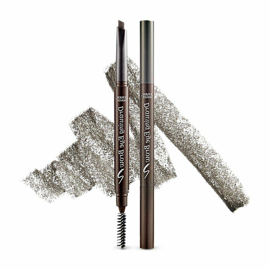 drawing eye brow pencil by 2 color