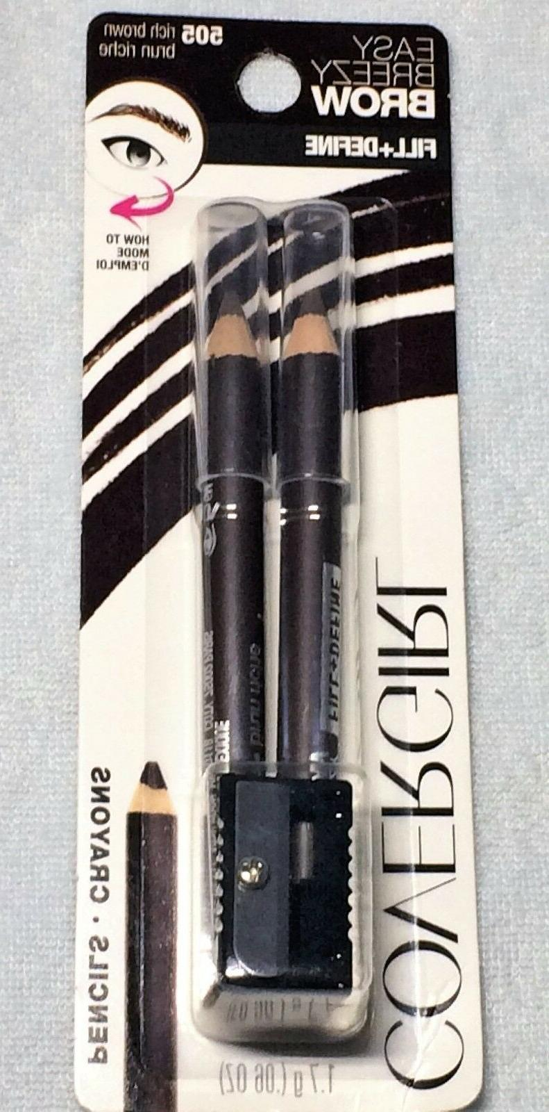 COVERGIRL EYEBROW & EYEMAKERS WATER RESISTANT PENCIL, .06 OZ
