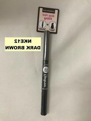 NICKA K NEW YORK EYEBROW DUO ANGLED TIP PENCIL & SKINNY MASC