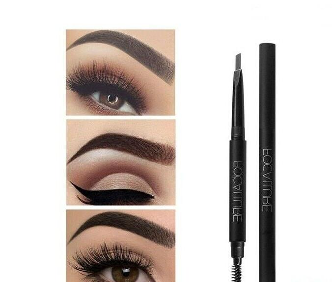 Eyebrow Pencil Pen Easy To Wear Waterproof Black Gra