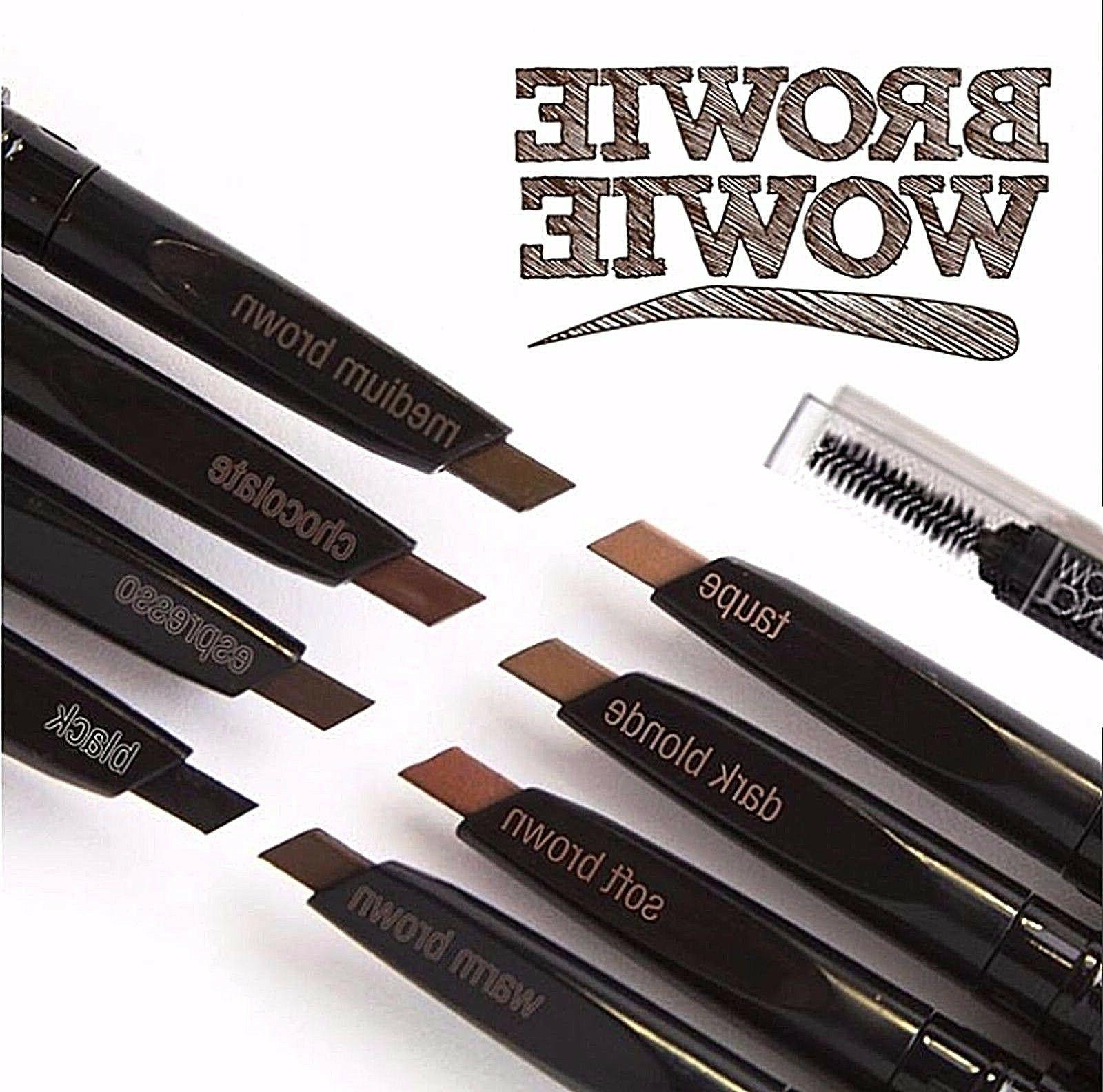 eyebrow pencil retractable slant tip and brush