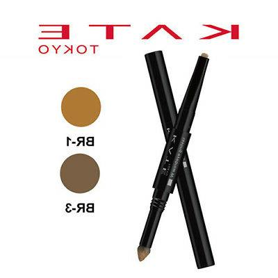 Lasting Eyebrow Double Tip Pencil WIDE TYPE 0.5g NEW Queen
