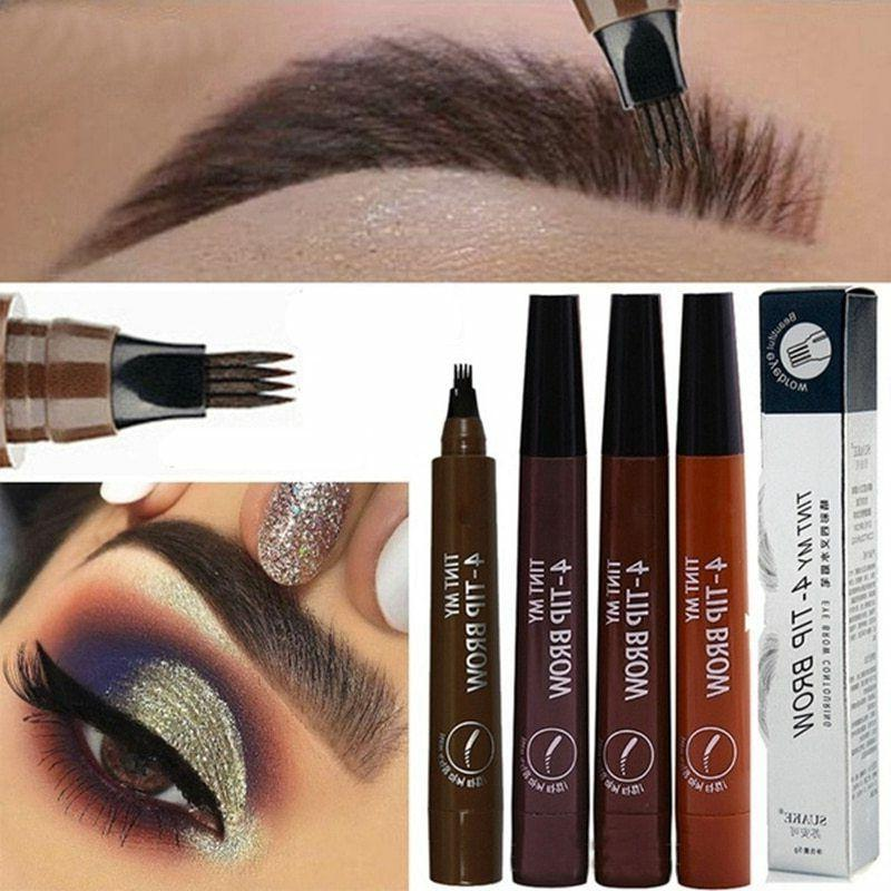microblading eyebrow pen waterproof fork tip eyebrow