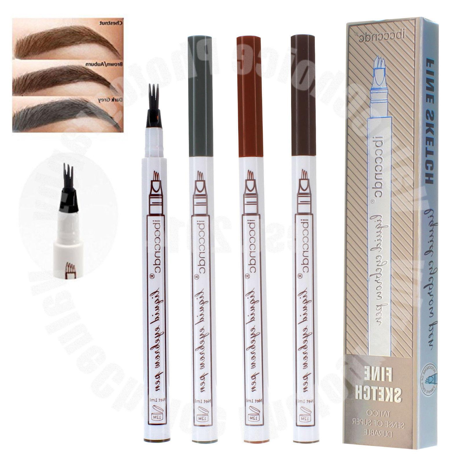 Microblading Tattoo Eyebrow Ink Fork Tip Pen Eye Brow 3D Mak