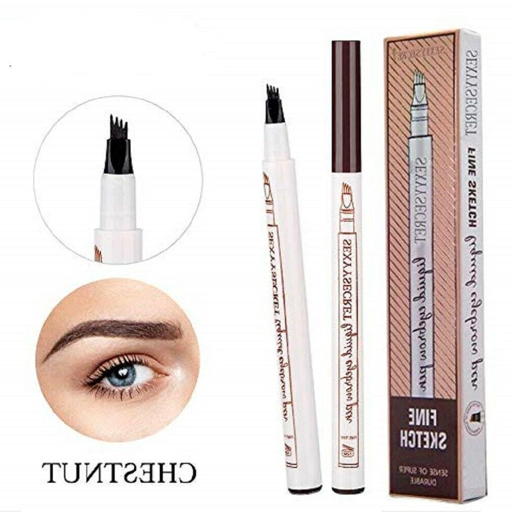 microblading tattoo eyebrow ink fork tip pen