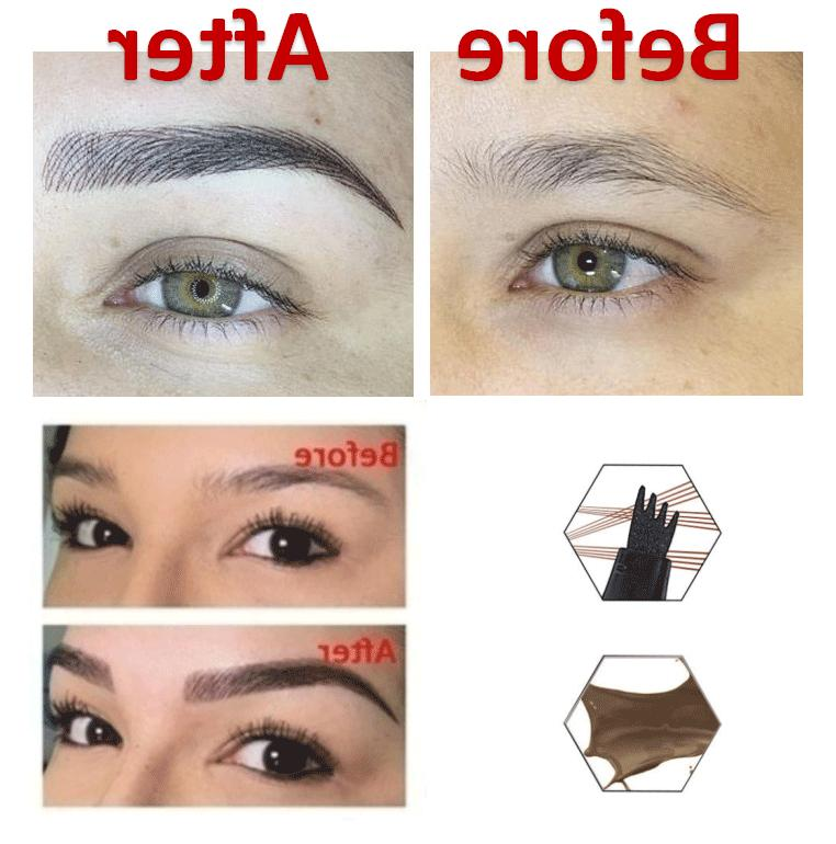 Microblading Tattoo Eyebrow Pen 3D Fork Waterproof Pencil Brow