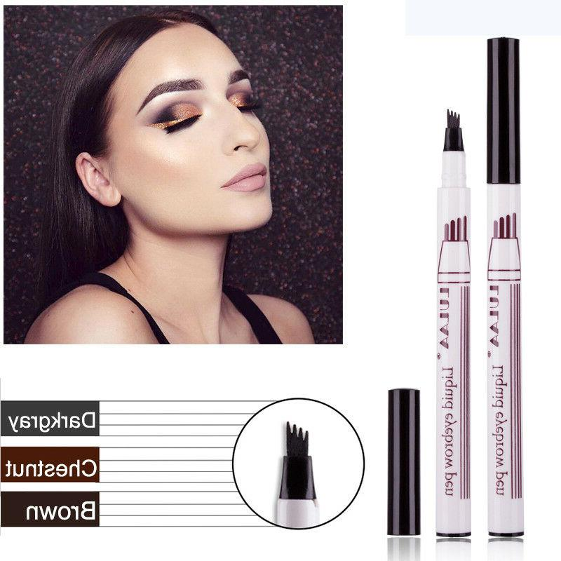 permanent eyebrow pen tattoo pencil waterproof liquid