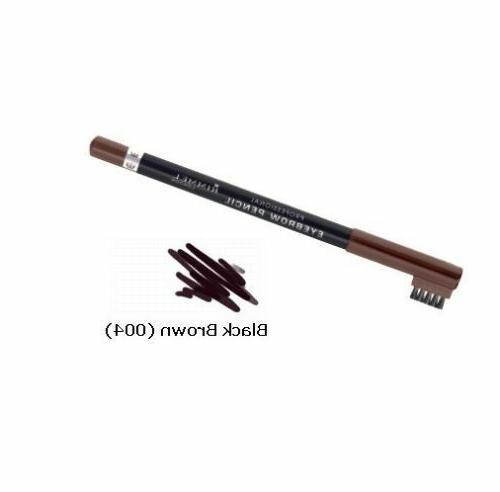 Rimmel Professional Eyebrow Pencil with Eyebrow Brush - Blac
