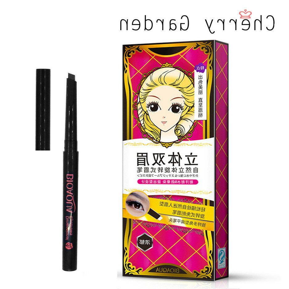rotable eyebrow liner pencil waterproof flat nib